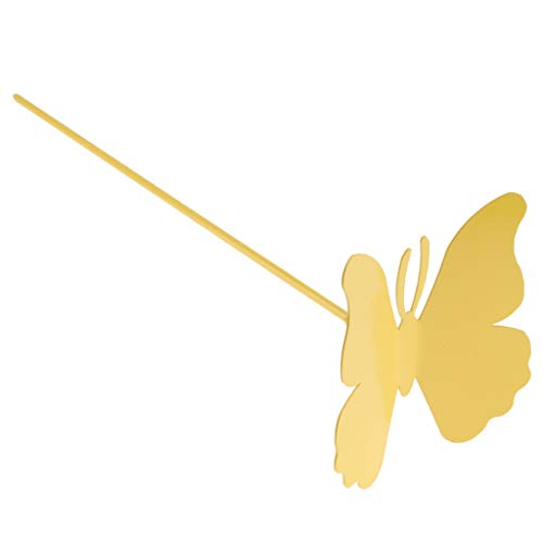 Homyl Piquets Plante Animale Papillon Pieu Jardin Pelouse Extérieure Décor - Jaune 10cm