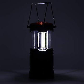 FEYV Lampe de Travail en Plein air, Lanterne de Camping légère pour intérieur/extérieur(Le Noir)