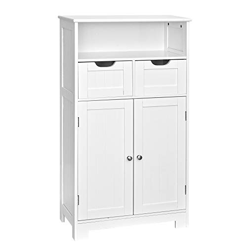 Bathroom Cabinet,Floor Cabinet,Bathroom Storage Cabinets Freestanding,White Cabinet Shelves,Wood Storage Cabinets with Drawers and Shelves