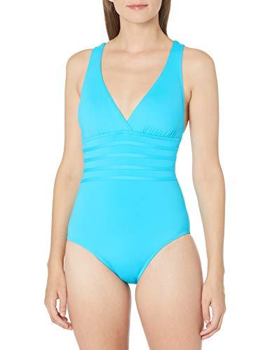 La Blanca Women's Island Goddess Multi Strap Cross Back One Piece Swimsuit, Poolside, 14