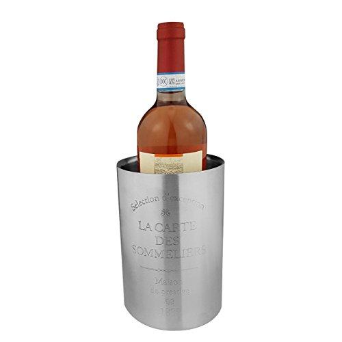 Acciaio inossidabile Glacette–12x 18cm (ØxH), Argento, Satinato–Radiatore per acqua, vino, Champagne, champagne, succo