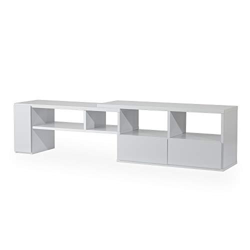 LOWYA ロウヤ TVボード テレビ台 伸縮TV台 ローボード 幅95~166.5cm ホワイト Aタイプ