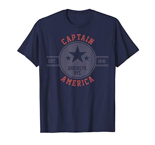 Marvel Captain America Vintage Est.1941 Star Badge T-Shirt T-Shirt