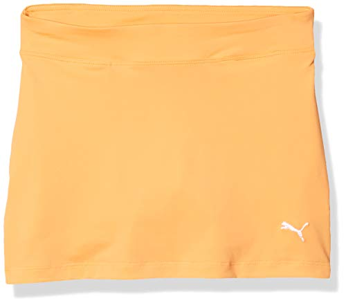 PUMA Mädchen 2019 Solid Knit Skirt Skort, Mädchen, Skort, 572340, Cantaloupe, L