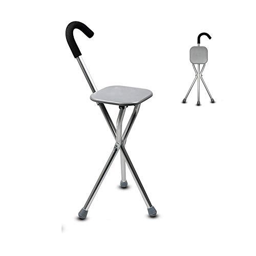 Y-L wandelstok met zitje verstelbaar met ergonomische antislipvoetstang wandelstokken