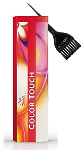 COLOR TOUCH Demi-Permanent Haircolor Dye, Ammonia-Free 2 oz (w/Sleek Tint Brush) Last 24 Shampoos, Vibrant High Shine Hair Color (7/0 Medium blonde/Natural)