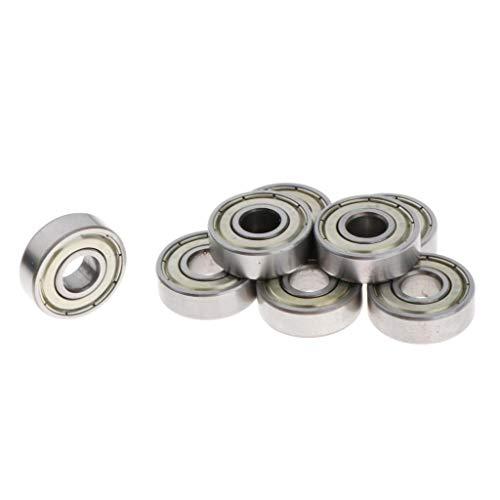 sharprepublic 8 Piezas de Rodamientos de Skate Pro ABEC-7 - Acero cromado