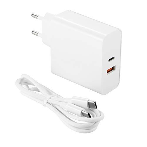 PD USB C USB A Cargador 63W PD Cargador PD3.0 / QC3.0 de 63W Con 1 Puerto USB - C y 1 Puerto USB - A