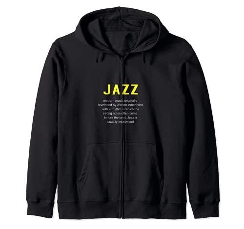 Jazz Musica - Definizione del Dizionario Camicia Divertente Felpa con Cappuccio
