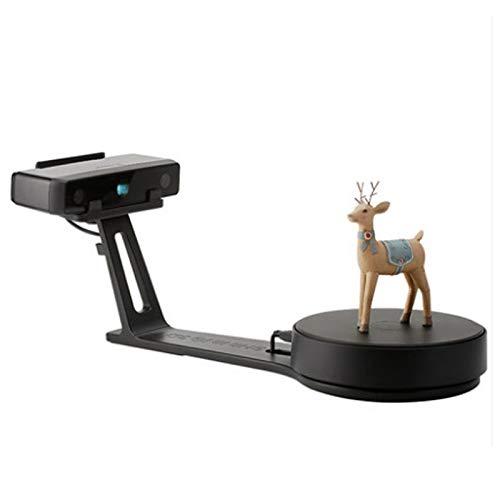 Escáner de Escritorio de Nivel de Alta precisión de luz Blanca 3D escáner 3D con la Placa giratoria Fija Inteligente,Negro