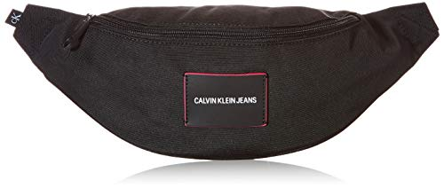 Calvin Klein Jeans WAISTBAG, Bolsa DE Cintura para Mujer, Black, 28 Inches, Extra-Large