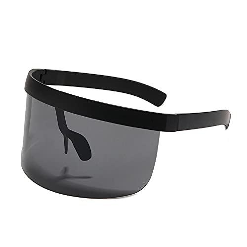 BANLV Gafas de Montura Grande Anti-asomando Montura Sombrero Gafas mascarilla Gafas de Sol Anti-vaho Anti-Ultravioleta Hombres Gafas de Sol Europeas y Americanas Mujeres