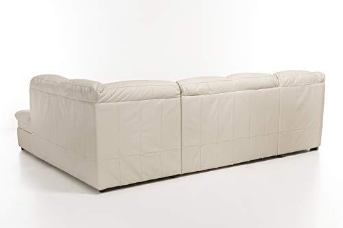 Cotta Sofa, Echtleder, Weiß, 313 x 98 x 232 cm
