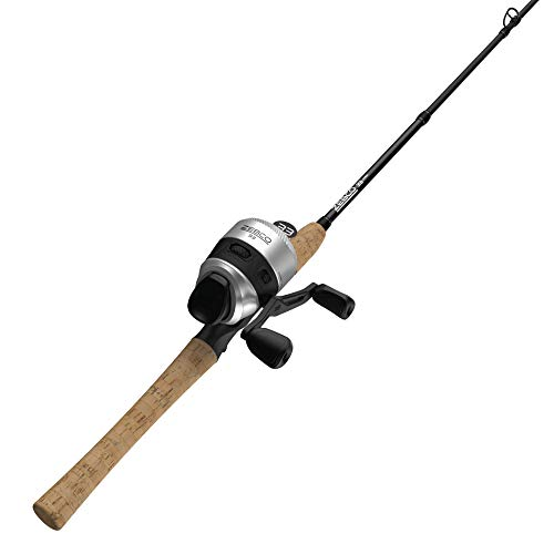 Zebco 33 Cork Spincast Reel and 2-Piece Fishing Rod Combo, Graphite Rod with Cork Handle, Quickset Anti-Reverse Fishing Reel with Bite Alert, Multicolor, One Size, 33CC602MA.NS3
