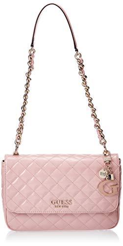 Guess Damen Handtaschen MELISE Shoulder Bag Pink Talla única