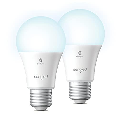 Sengled Alexa-Glühbirne, entspricht 100 W, 1500 lm, hohe Helligkeit, Bluetooth-Mesh-Glühbirnen, die nur mit Alexa funktionieren, dimmbare LED-Glühbirnen A19 5000 K, kein Hub erforderlich, 2 Stück