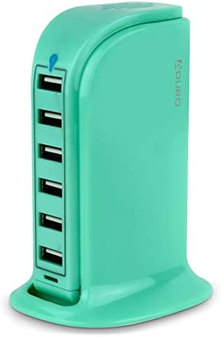 Aduro 40W 6 Port USB Desktop Charging Station Hub Wall Charger for iPhone iPad Tablets Smartphones product image