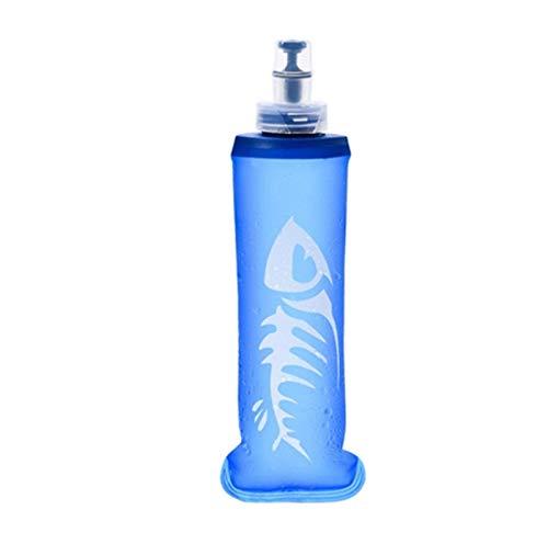 OJPOGHU 250 / 500ml TPU Plegable Plegable Frasco Suave Botella de Agua Taza de Deportes Bolsa de Agua Kettle hidratación Paquete vejiga Agua Reservorio (Size : 500ml)