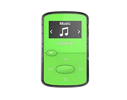 SanDisk 8GB Clip Jam MP3 Player, Green - microSD card slot and FM Radio -...