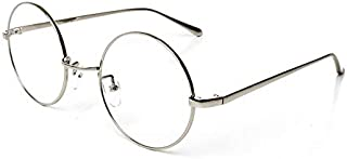 Simple Style Silver Frame Eyewear Classical Round Clear Lens Eyeglasses
