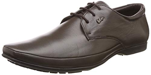 Lee Cooper Men's Brown Leather Formal Shoes-8 UK/India (42 EU) (FGLC_8907788756643)