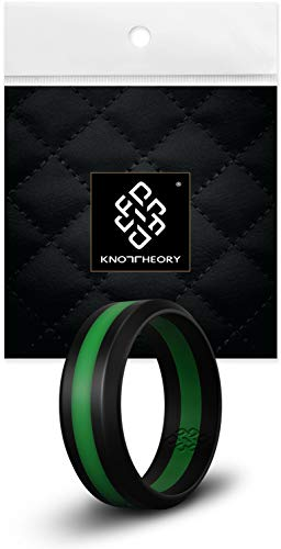Knot Theory Silicone Wedding Ring for Men and Women, Size 9.5~10 (WIDER 8mm...