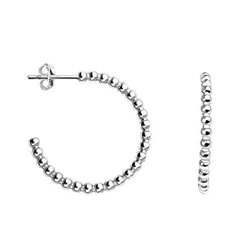 SOFIA MILANI - Damen Ohrringe 925 Silber - Steck Creolen Klein Dünn als Kugeln - 20726