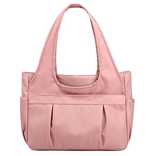 AIEOE Bolso de hombro Oxford genuino de nylon para mujer con gran capacidad, Pink (Rosa) - XYSM349840125
