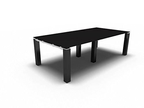 Bralco Konferenztisch mit Glasplatte Jet EVO für 8 Personen, Besprechungstisch, Meetingtisch in verschiedenen Dekoren, Konferenzmöbel
