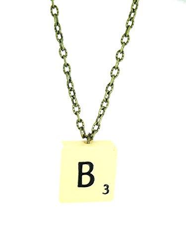Fallen Saint Buchstabe B Jahrgang Scrabble Fliese Halskette Geschenk Box