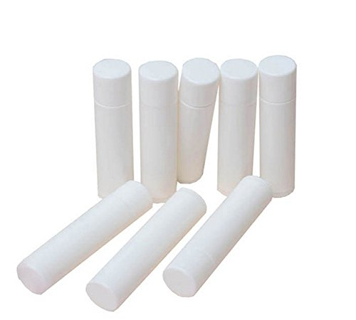 10 Pcs 5g/5(ml) White Plastic Empty Lip Balm Containers Lipstick Tubes with Lid Caps Makeup Cosmetic Box Containers Empty Tubes for Crayon Lipstick Chapstick DIY Lip Balm Natural Products