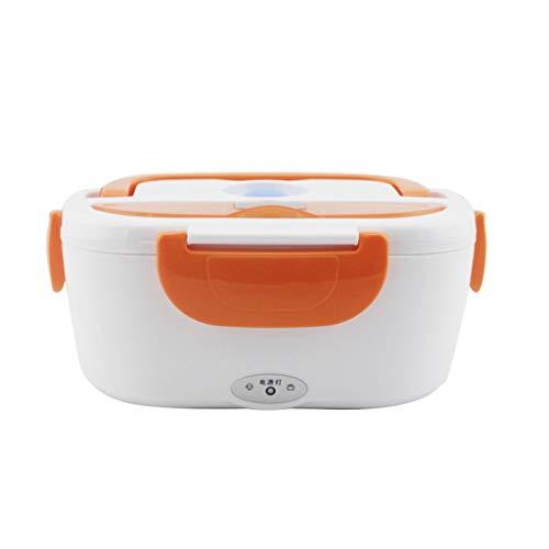 Fiambrera eléctrica Cargador para automóvil 12 V, Calefacción automática Fiambrera eléctrica para Oficina, automóvil, Camping, Familia (Color : Orange)