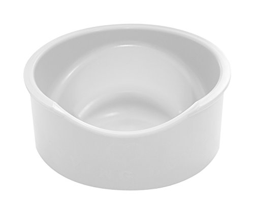 Enhanced Pet Bowl Plastic - Tilted Slanted Pet Bowl for Dogs & Cats. Hold 1 Cup of Food