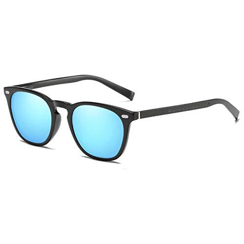 FEIDU Halbrahmen Polarisierte Klassische Metall Sonnenbrillen Herren-Retro Polarisierte Sonnenbrille Damen FD 3031 (z-Helles Blau, 2.04)