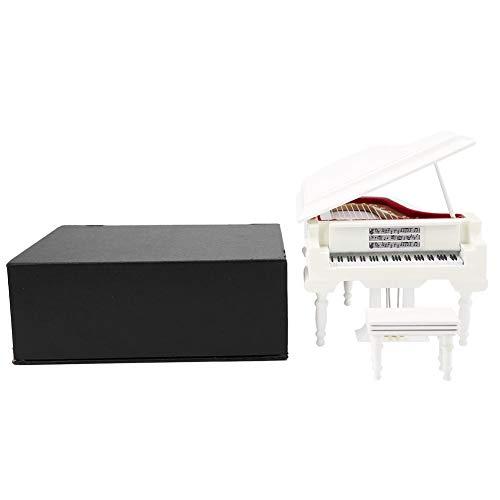 Piano Model speelhorloge, houten musical Piano instrument ornamenten handwerk koffie Home Decor, verjaardag Kerstmis Valentijnsdag piano geschenk voor jonge meisjes vrienden zool (zonder muziek A)