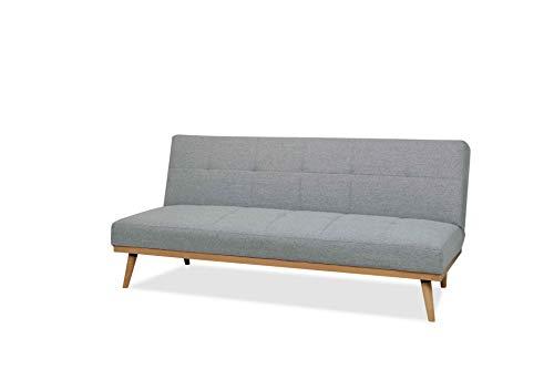 AmazonBasics - Sofá cama de tres plazas, 182 x 80 x 80, Gris