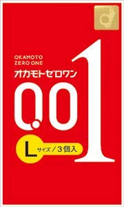 Okamoto Condoms Zero One 001 Lsize 3 Pieces × 3 packs