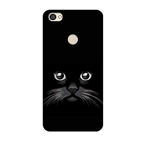 Aksuo Compatible with Xiaomi RedMi Note 5A Prime Hülle Silikon, TPU Silikonhülle Handyhülle Kratzfest Durchsichtige Stylisch Muster Design Robust Leicht Passgenau Case - Cat face in The Dark