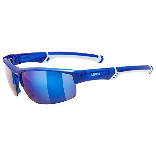 uvex Unisex– Erwachsene, sportstyle 226 Sportbrille, blue white, one size