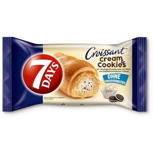 7 DAYS Croissant Cream & Cookies (10 x 60g) (Vanille - Kakaokeks)