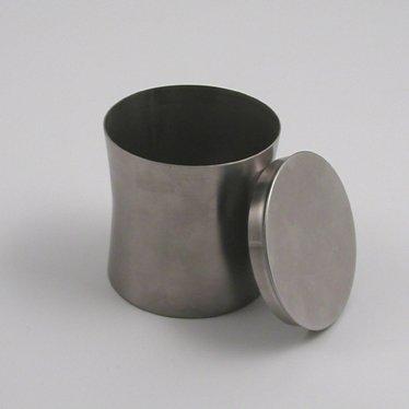 Metaltex Bote de Lavabo con Tapa INOX, Acero Inoxidable, Plateado, 8.50x8.00x8.00 cm
