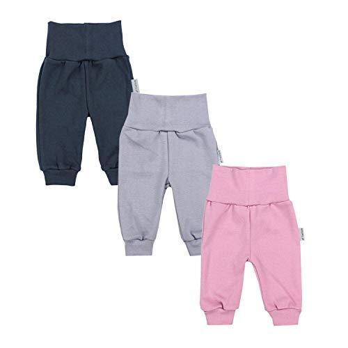TupTam Baby Mädchen Hose Jogginghose Freizeithose 3er Pack, Farbe: Farbenmix 1, Größe: 74