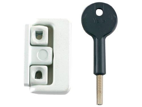 Yale Locks 8K101 Loquet fenêtre Visi Blanc Lot de 4 (Import Grande Bretagne)