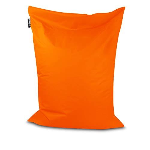 Sitzsack Bodenkissen Indoor Outdoor Riesensitzsack Größen & Farben wählbar Kinder Bean Bag Erwachsene Wasserabweisend Schmutzabweisend (Orange-150x100 cm)
