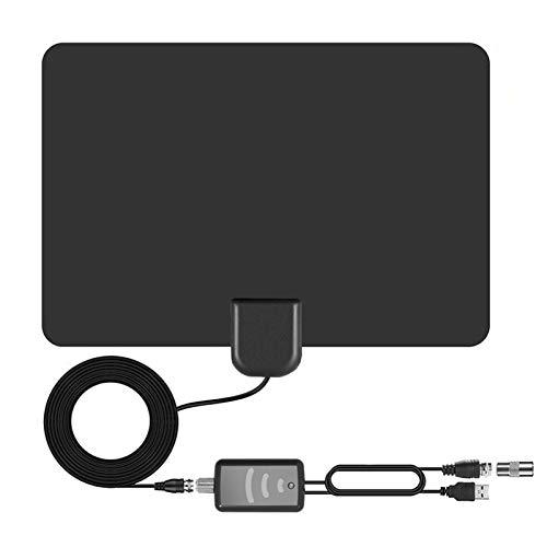 Antena de TV – Amplificada 4K HD Digital Interior Antena de TV Antena de hasta 960 millas de largo alcance – ATSC Recepción de señal estándar HDTV Antena UHF/VHF, cable coaxial de 5 m