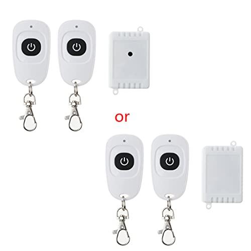 holilest Control Remoto, 1Set AC220V RF Mini Receptor de relé de Interruptor inalámbrico 1CH Botón Control Remoto-2