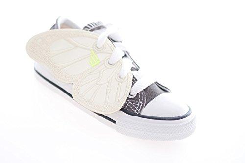 DONKEY Products Schmetterling für die Schnürsenkel, Shwings, 2-TLG, Deko für Schnürschuhe, Gelb Leuchtend, 330612