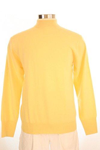 Shephe Men's Mock Turtleneck Cashmere Sweater Yellow XXX Large