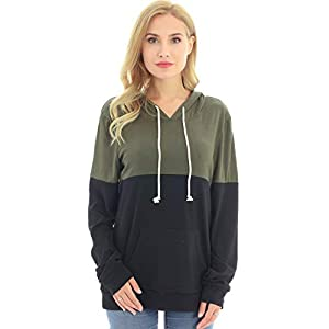 Bearsland Women's Maternity Breastfeeding Sweater Hoodie Nursing Sweatshirt with Pockets
