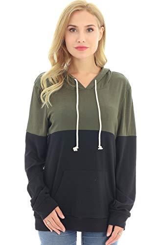 Bearsland Women's Maternity Breastfeeding Sweater Hoodie Nursing Sweatshirt with Pockets